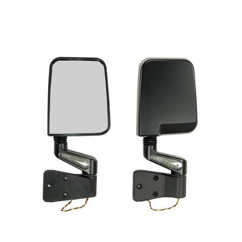 Fat Bob's Garage, Rugged Ridge, Part #11015.01, LED Mirror Pair, Black MAIN