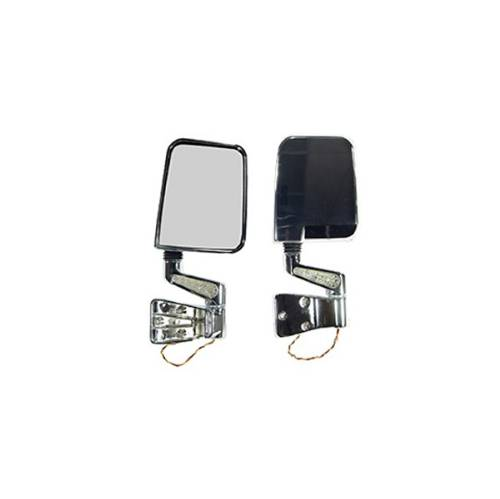 Fat Bob's Garage, Rugged Ridge, Part #11016.01, LED Mirror Pair, Chrome MAIN