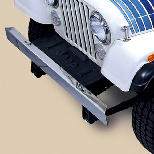 Fat Bob's Garage, Rugged Ridge, Part #11107.03, Front Bumper W/Out Holes, Stainless Steel MAIN
