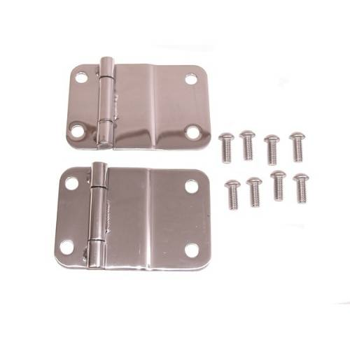 Fat Bob's Garage, Rugged Ridge, Part #11114.01, Jeep CJ Tailgate Hinges, Stainless Steel 1976-1986 MAIN