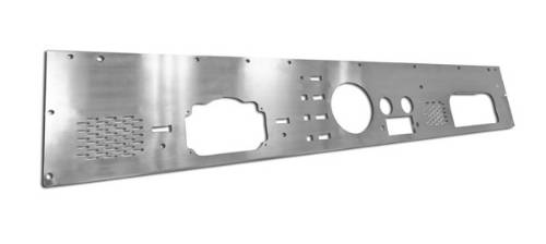 Fat Bob's Garage, Rugged Ridge, Part #11144.12, Jeep CJ Dash Panel With Pre Cut Holes, Stainless Steel 1976-1986 MAIN