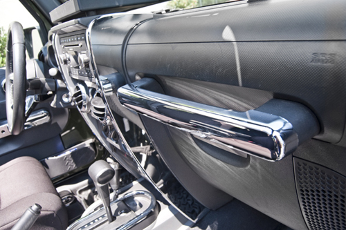 Fat Bob's Garage, Rugged Ridge, Part #11156.15, Jeep JK Wrangler Grab Bar Trim, Chrome 2007-2010 MAIN