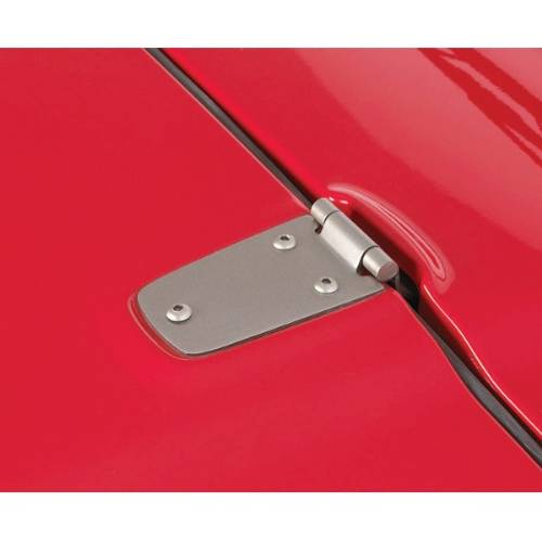 Fat Bob's Garage, Rugged Ridge, Part #11185.32, Jeep TJ/LJ Wrangler Hood Hinge Kit, Satin Stainless Steel 1998-2006 MAIN
