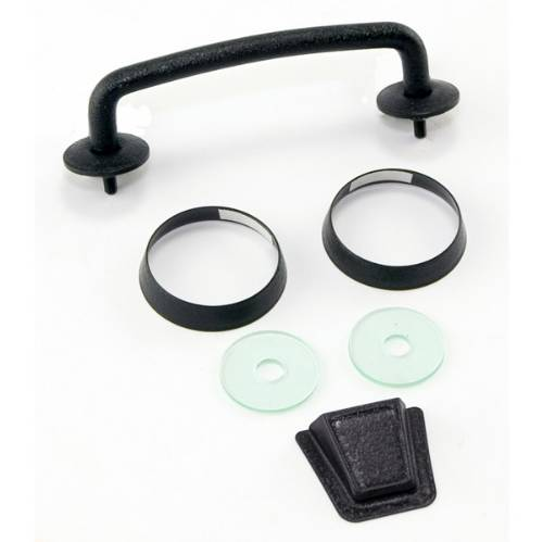 Fat Bob's Garage, Rugged Ridge, Part #11201.05, Jeep JK Wrangler Windshield Tie Down Kit, Textured Black 2007-2012_MAIN