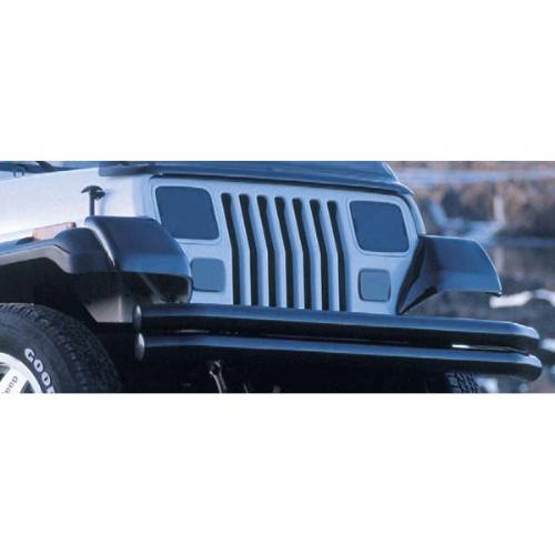 Fat Bob's Garage, Rugged Ridge, Part #11351.01, Jeep YJ Wrangler Molded Fender Guards 1987-1995 MAIN