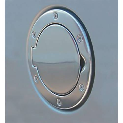 Fat Bob's Garage, Rugged Ridge, Part #11425.01, Jeep Wrangler Non Locking Gas Cap Door, Polished Aluminum 1997-2006 MAIN