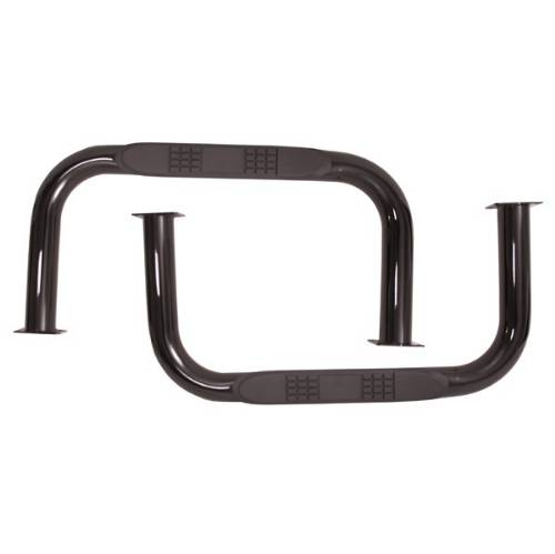 Fat Bob's Garage, Rugged Ridge, Part #11504.01, Jeep CJ5 Nerf Bars, Black 1955-1975_MAIN