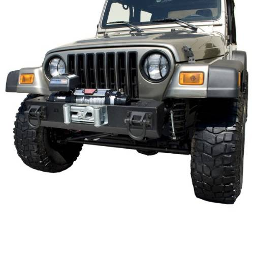 Fat Bob's Garage, Rugged Ridge, Part #11540.40, Jeep CJ/Wrangler HXD Winch Mount Front Bumper 1976-2006_MAIN