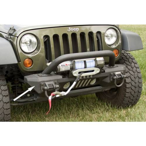 Fat Bob's Garage, Rugged Ridge, Part #11541.10, Aluminum Front Xhd Bumper Ends 07-16 Jeep JK Wrangler MAIN