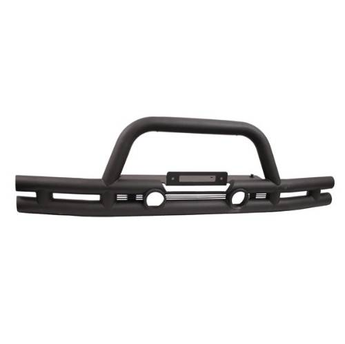 "Fat Bob's Garage, Rugged Ridge, Part #11561.11, Jeep JK Wrangler 3"" Double Tube Front Winch Bumper 2007-2016 MAIN"