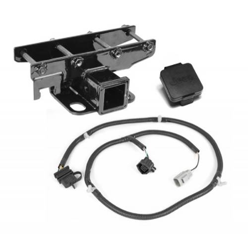 Fat Bob's Garage, Rugged Ridge, Part #11580.52, Receiver Hitch Kit With Jeep Plug 2007-2016 JK MAIN