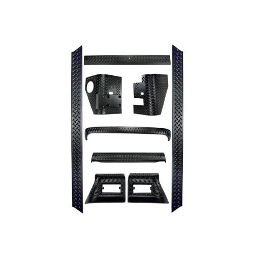 Fat Bob's Garage, Rugged Ridge, Part #11650.50, Jeep TJ Wrangler 9 Piece Full Body Armor Kit 1997-2006 MAIN
