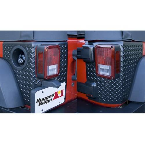 Fat Bob's Garage, Rugged Ridge, Part #11651.02, Jeep JK Wrangler Corner Guards Body Armor 2007-2016 MAIN