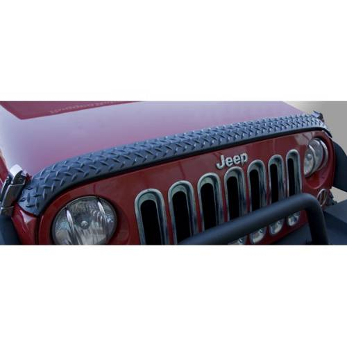 Fat Bob's Garage, Rugged Ridge, Part #11651.17, Jeep JK Wrangler Hood Guard Body Armor 2007-2016 MAIN