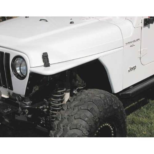Fat Bob's Garage, Rugged Ridge, Part #12004.53, Jeep TJ/LJ Wrangler RRC Tubular Steel Flat Fender Kit 1997-2006 MAIN