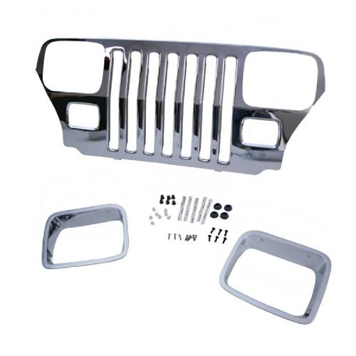 Fat Bob's Garage, OMIX-ADA Part #12033.06, Grille Overlay Cover, Mopar MAIN