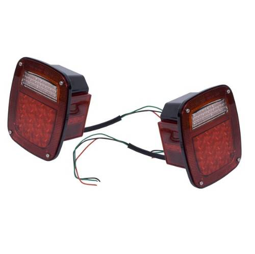Fat Bob's Garage, Rugged Ridge, Part #12403.85, LED Tail Light Set, Pair MAIN