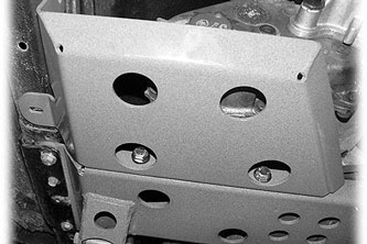 "Fat Bob's Garage, BDS Part #124656, Jeep Cherokee XJ Transfer Case Skid Plate - Accessory for 6.5"" System"