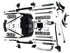 "Teraflex TJ Unlimited 5"" Pro LCG Lift Kit w/ High Steer & 9550 Shocks THUMBNAIL"