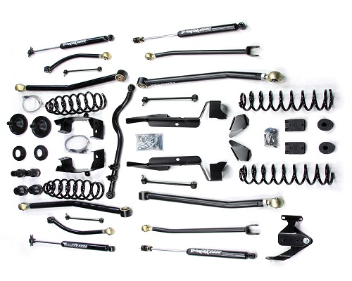 "Teraflex JK 2 Door 4"" Elite LCG Long FlexArm Lift Kit w/ 9550 Shocks - Right Hand Drive LARGE"