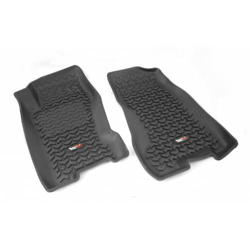 Fat Bob's Garage, Rugged Ridge, Part #DMC-12920.27, All Terrain Front Floor Liners 99-04 Jeep Grand Cherokee Jeep Logo MAIN