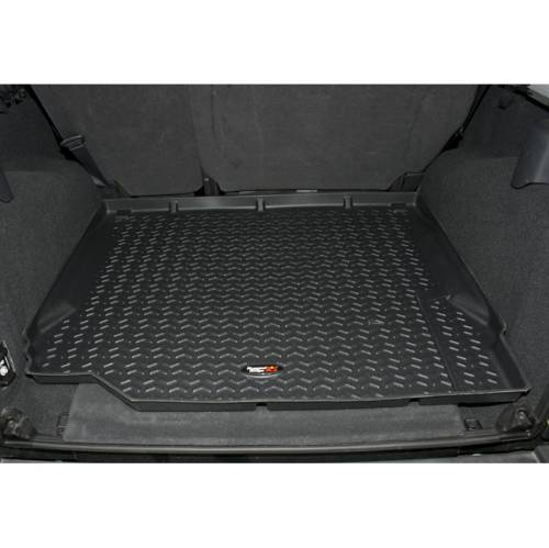 Fat Bob's Garage, Rugged Ridge, Part #DMC-12975.22, All Terrain Cargo Liner, Jeep Logo, Mopar Licensed THUMBNAIL