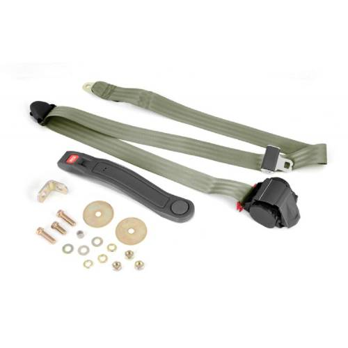 Fat Bob's Garage, OMIX-ADA Part #13202.42, 3-Point Seat Belt Olive Retractable Universal Application MAIN