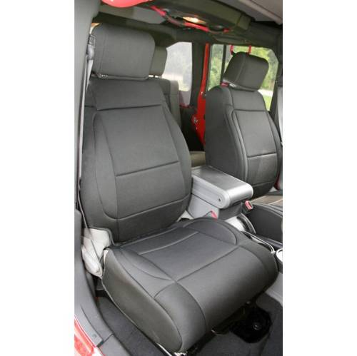 Swell Jeep Jk Wrangler Neoprene Front Seat Covers Black 2007 2010 Gamerscity Chair Design For Home Gamerscityorg