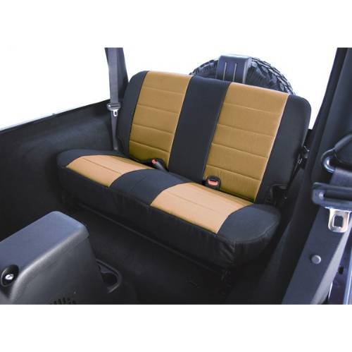 Fat Bob's Garage, Rugged Ridge, Part #13280.04, Jeep CJ/Wrangler Fabric Rear Seat Covers 1980-1995 MAIN