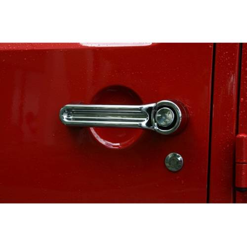 Fat Bob's Garage, Rugged Ridge, Part #13311.13, Jeep Liberty Door Handle Cover Kit, Chrome 2008-2012 MAIN