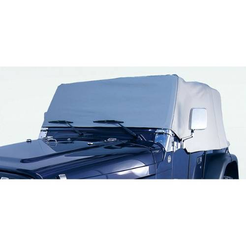 Fat Bob's Garage, Rugged Ridge, Part #13315.09, Water Resistant Vinyl Cab Cover, Gray MAIN