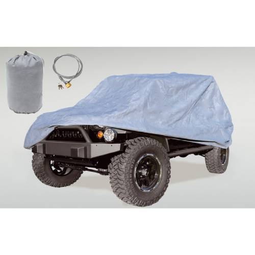 Fat Bob's Garage, Rugged Ridge, Part #13321.81, Car Cover Kit, Includes Cover Bag Cable & Lock MAIN