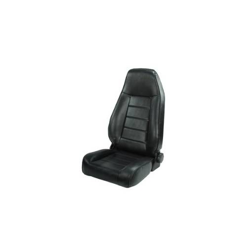 Fat Bob's Garage, Rugged Ridge, Part #13402.01, Jeep CJ/Wrangler Factory Style Front Seat, Black 1976-2002 MAIN