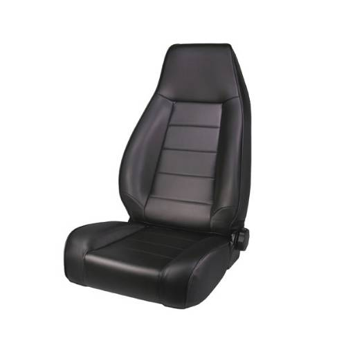 Fat Bob's Garage, Rugged Ridge, Part #13402.15, Jeep CJ/Wrangler Factory Style Front Seat, Black Denim 1976-2002 MAIN