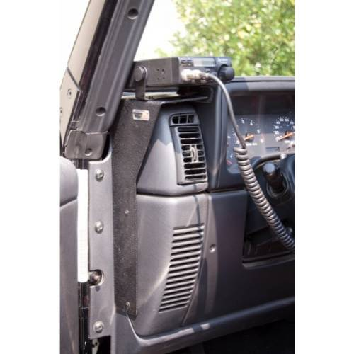 Fat Bob's Garage, Rugged Ridge, Part #13551.09, Cb Radio Dash Mount 97-06 Jeep TJ LJ Wrangler MAIN