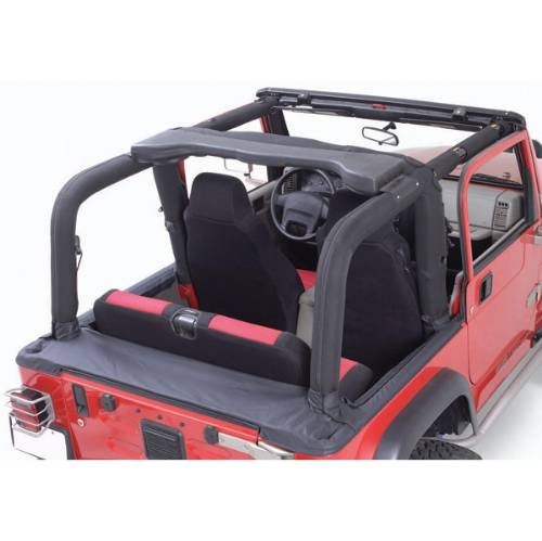 Fat Bob's Garage, Rugged Ridge, Part #13611.15, Jeep YJ Wrangler Full Roll Bar Cover Kit 1992-1995 MAIN
