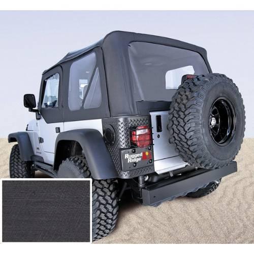 Jeep Tj Wrangler Soft Top No Door Skins Black Clear 1997 2002