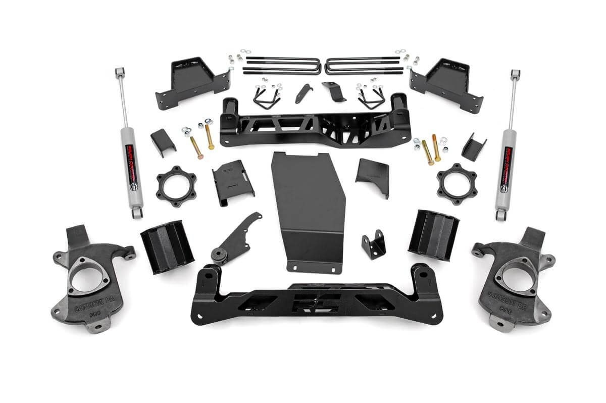 "Fat Bob's Garage, Rough Country part #223.22, Chevrolet/GMC Silverado/Sierra 1500 6"" Suspension Lift Kit 4WD 2014-2015 THUMBNAIL"