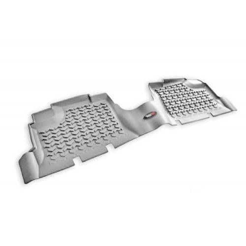 Fat Bob's Garage, Rugged Ridge, Part #14950.01, Rear Gray Floor Liner Pr 07-16 Jeep Unlimited JK 4 Door MAIN
