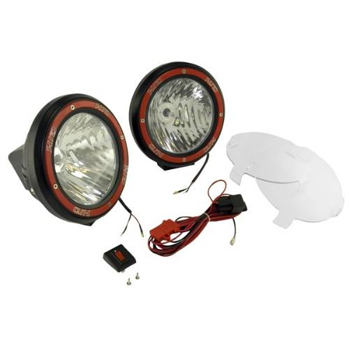 "Fat Bob's Garage, Rugged Ridge, Part #15205.53, HID Off Road Fog Light Kit, Pair, 7"" Round Black MAIN"