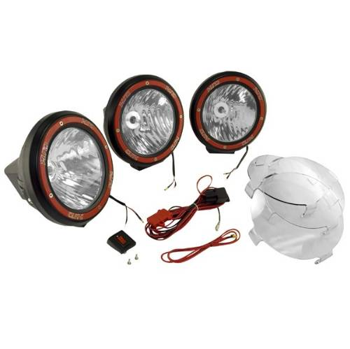 7 round wiring harness hid off road fog light kit  3 lights w wiring harness  7  round  hid off road fog light kit  3 lights w