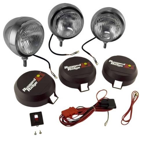 hid off road fog light kit, 3 lights w wiring harness, 5\