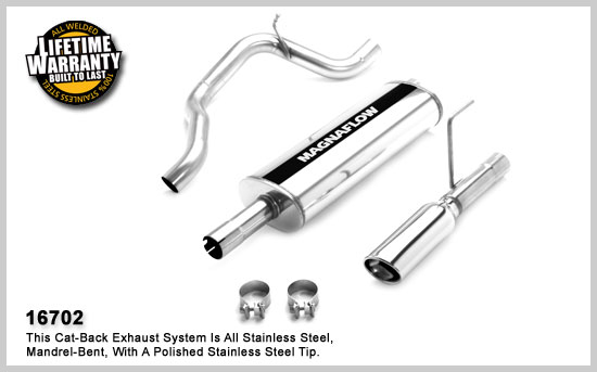 Dodge Nitro Cat Back Exhaust System 2007-2011 THUMBNAIL