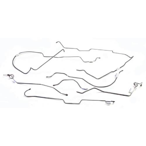 Fat Bob's Garage, OMIX-ADA Part #16737.42, Brake Line Kit Stainless Steel Disc MAIN