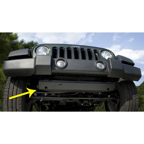 Fat Bob's Garage, Rugged Ridge, Part #18003.30, Jeep JK Wrangler Steering Component Skid Plate 2007-2016 MAIN