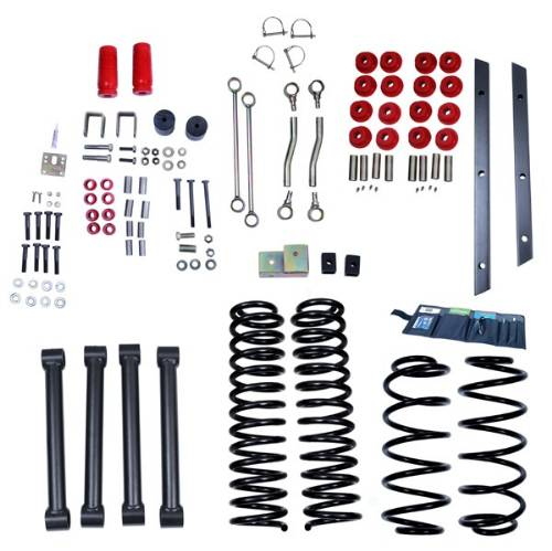 "Fat Bob's Garage, Rugged Ridge, Part #18401.40, Jeep TJ Wrangler 4"" Lift Kit Without Shocks 1997-2002 MAIN"