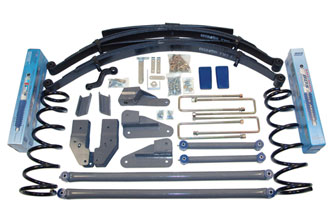 "Fat Bob's Garage, BDS Part #252H, Dodge Ram 1500 5"" Front 4.5"" Rear Long Arm Suspension System 2000-2001"