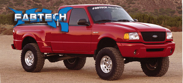 "Fat Bob's Garage, Fabtech Part #FT98300-7, Ford Ranger Edge/Sport 2WD 2001-2006 3"" Spindle Lift System THUMBNAIL"
