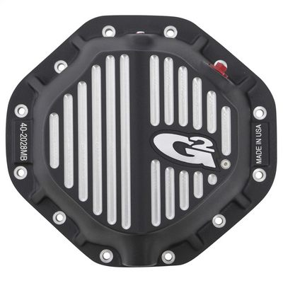 Fat Bob's Garage, G2 Axle & Gear, Chrysler 9.25 Differential Cover, Rear, Ball Milled Black Finish_THUMBNAIL