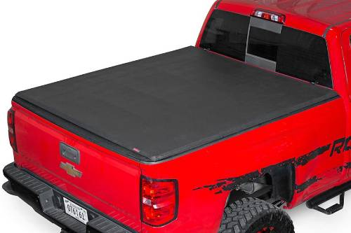Fat Bob's Garage, Rough Country part #44214550,  Chevrolet/GMC Silverado/Sierra 1500 Soft Tri Fold Bed Cover 2014-2015 MAIN